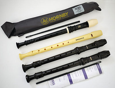 4 x Recorders Hohner - Yamaha - Aulos - Hornby Descant