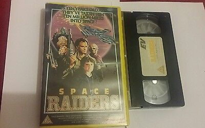 SPACE RAIDERS - rare  vhs video  - large box horror