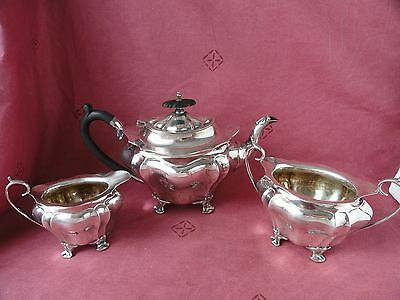 Antique Silver Plated  Tea Set 3 SHEFFIELD