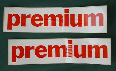 Pair Red Premium Gulf Gas Oil Advertising Station Pump Restore Decal Stickers