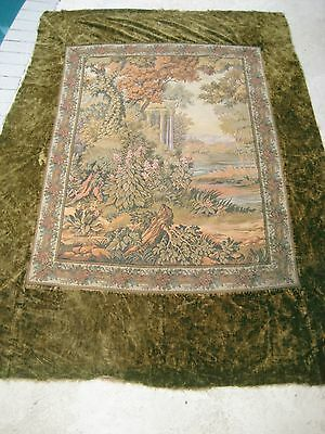 LONG FRENCH ANTIQUE WALL PANEL WOVEN TAPESTRY Morrison Hotel Presidential Suite