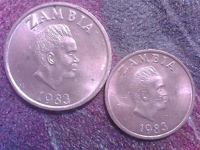 Zambia    One   Ngwee  1983      Two   Ngwee  1983  Unc  Sa