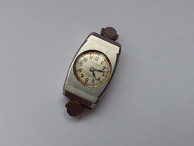 Vintage Ladies Art Deco Rolex Swiss Stainless Steel Wrist Watch Head 4 Parts