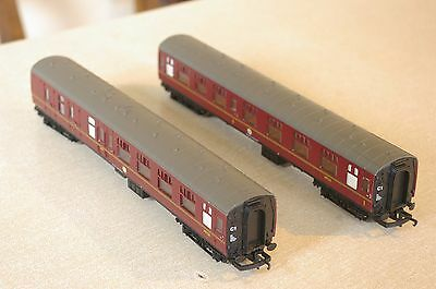 2 x Hornby Hogwarts Express Harry Potter Mk1 Coaches in excellent condition