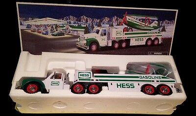 2002 Hess Toy Truck and Airplane MINT NEW IN BOX -  comes with Hess batteries!