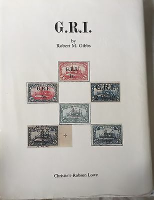 German Colonies G.R.I. Postage Stamps Of The R  M  GIBBS