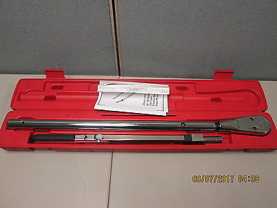 "Snap On TQR600E 3/4"" Torque Wrench Kit 200-600 ft lb"