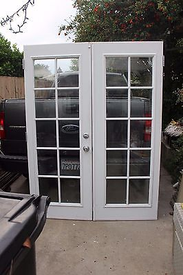 PreHung French Doors 10 Panel Glass Double Pane Includes Hardware 58 x 77 1/2
