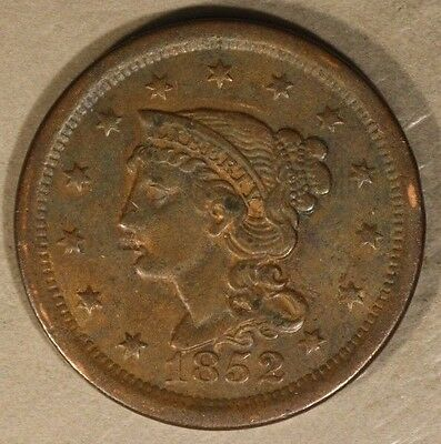 1852 Braided Hair Large Cent Circulated                ** FREE U.S. SHIPPING **