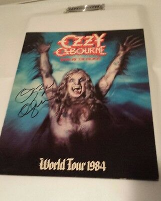 Ozzy Osbourne Signed Bark At The Moon Tour Book