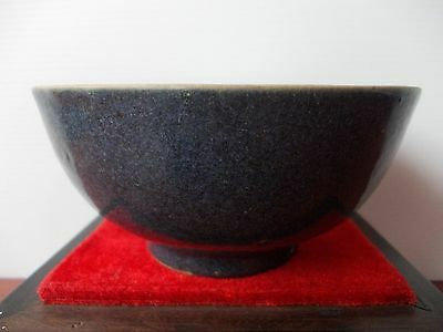 Over 200 Years Old Mid Qing Jiaqing Period 嘉庆 undecoarted Blue Glazed Bowl