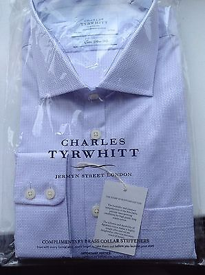 Charles Tyrwhitt extra slim fit Egyptian cotton shirt with 17.5 inch collar