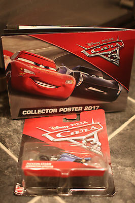2017 Mattel Disney Cars 3 Diecast Jackson Storm 2.0 Toy 1:55 Collector Poster