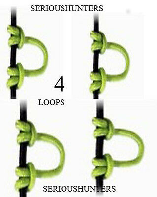 Neon Green Bowstring Release Nock D Loop 4 Pack Compound Bow
