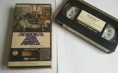 THE MAKING OF STAR WARS VIDEO  Rare vhs  ** FULL CARTON MAGNETIC CARTON PRE CERT