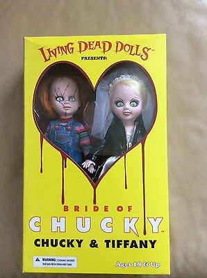 living dead dolls Chucky and Tiffany Rare!!