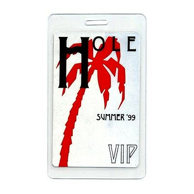 Hole authentic 1999 concert tour Laminated Backstage Pass Courtney Love VIP