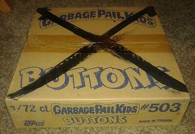 Full Sealed Garbage Pail Kids Button Case (72) Buttons Gpk