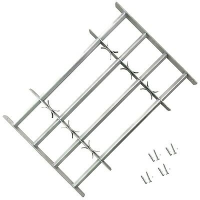 #Adjustable Window Security Grilles Bars Shed Office with 4 Crossbars 500-650 mm