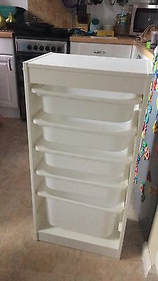 White Ikea Trofast Storage Unit
