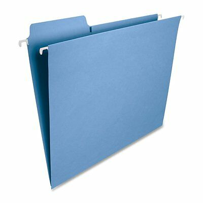 Smead FasTab Hanging File Folder, 1/3-Cut Built-In Tab, Letter Size, Blue, 20