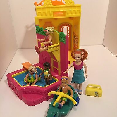 Fisher Price Loving Family Sweet Streets Pool House Set Lifeguard Mom Kids DD