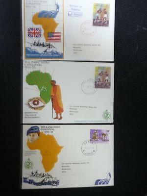 Zaire River Expedition Covers x 3 1974