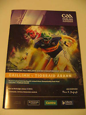 gaa programme hurling semi final 2016 galway v tipperary