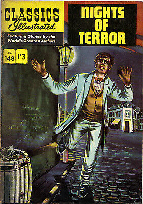 Classics Illustrated 148  NIGHTS OF TERROR Dickens/Collins 1/3d UK only edn 1961