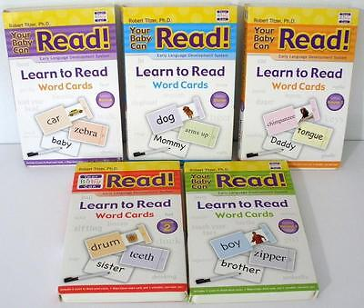 Your Baby Can Read Set Of 5 Volumes Of Slide Cards Robert Titzer Ph.D 2008