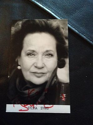 Sylvia Sims Signed Autograph Dedicated