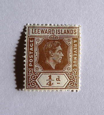 KGVI 1/4d Leeward Islands unused stamp