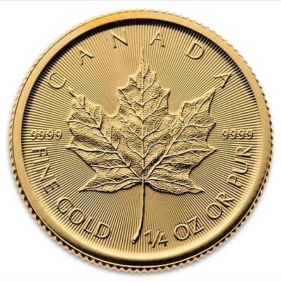 1/4 Oz Maple Leaf Gold 2017 viertel Unze Goldmünze Royal Canadian Mint 9999