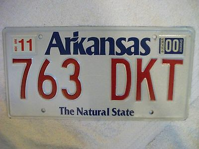 Expired Arkansas (The Natural State) State Vehicle License - Exp. 2000 - Nice!