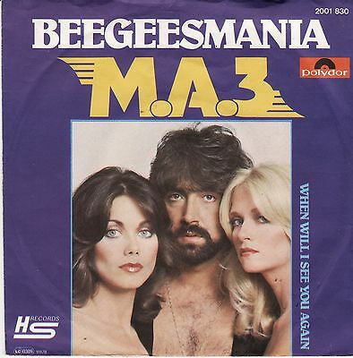 "M.A.3 Beegeesmania German 7"" 45 PS Disco Bee Gees Mania Robin Andy Gibb"