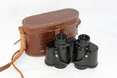 "Vintage Binoculars with carry case to use or display! (Size approx.: 6"" x 3 ½"")"