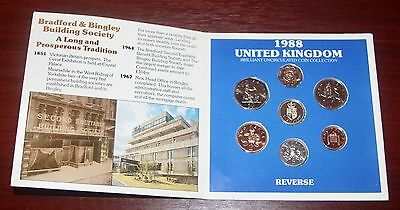 Royal Mint – Brilliant Uncirculated U.k. Coin Collection – 1988 ( B&b ) Rare