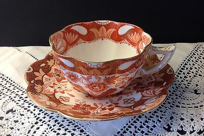 ANTIQUE c.1892 FOLEY WILEMAN JAPAN ORIENTAL FLOWERS Tea Cup ~ pre Shelly