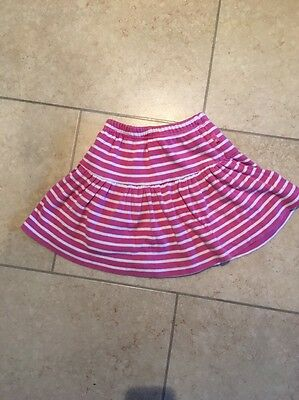 JoJo Maman Skort (Skirt/Shorts) Pink Stripes 18-24 Months