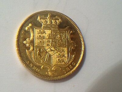 1832 gold proof like sovereign