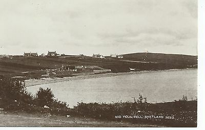 Real photo postcard of Mid Yell, Yell, Shetland,,Scotland in very good condition