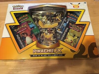 Pokemon Pikachu Ex Red And Blue Collection