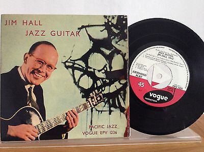 JIM HALL TRIO w/CARL PERKINS - JAZZ GUITAR E.P 1958 UK VOGUE EPV 1236 - PACIFIC