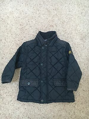 Next Boys Quilted Jacket Navy Blue 18-24 Months VGC