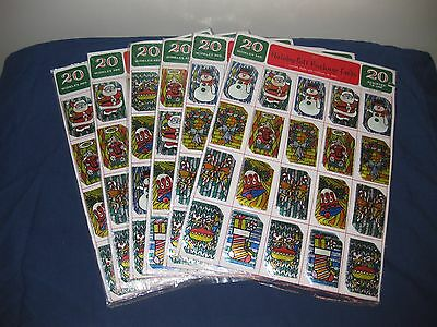 Vintage New Christmas Gift Tags Holiday Gift Cards 6 Unopened Packs 20 per pack