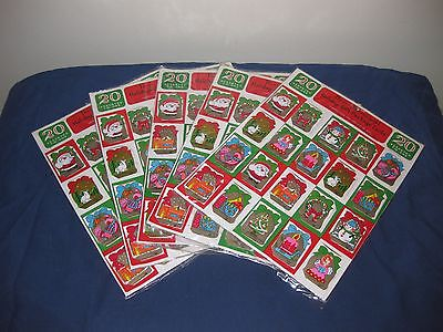 Vintage New 3-D Christmas Gift Tags Cards 5 Unopened Packs 20 per pack