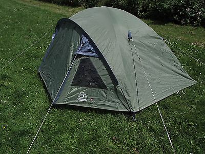 EUROHIKE 2 man person dome tent backpacking camping green