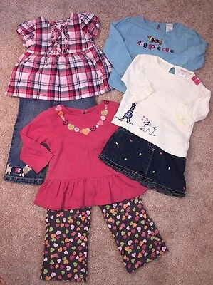 Gymboree Girls Lot of Pants, Skirt, Shirts Clothing Size 18-24 Months and 2T