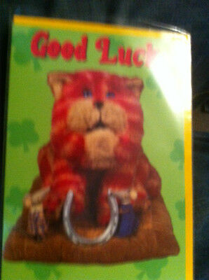 BN Bagpuss Card Good Luck with Bagpuss and 2 mice
