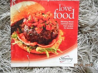 Slimming World Love Food Booklet - Original Plan Red Green Days Used 45 Recipes